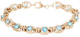 "QVC 14K Gold 6-3/4"" Gemstone Station Bracelet"