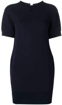 Sacai lace up detail shift dress