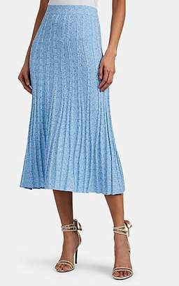 Altuzarra Women's Gabbiano Rib-Knit Fit & Flare Skirt - Lt Blue