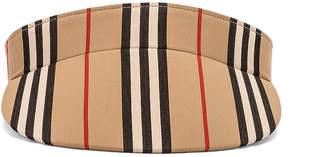 Burberry Stripe Visor in Heritage Stripe | FWRD