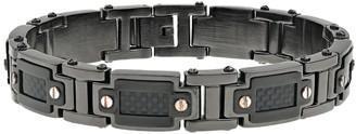 Lynx LYNXMen's Stainless Steel & Carbon Fiber Bracelet