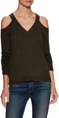 Sea Bleu Cashmere Cold Shoulder Sweater