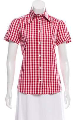 Dolce & Gabbana Gingham Button-Up Top