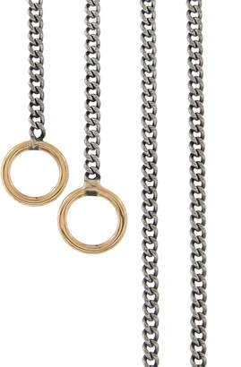 Marla Aaron Medium Silver Curb Chain Necklace - Yellow Gold
