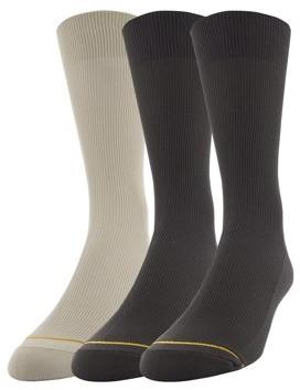 Gold Toe Gt a Goldtoe Brand Men's Nylon Rib Dress Socks, 3-Pack