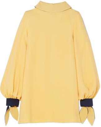 Roksanda Nivala Silk-crepe Blouse - Pastel yellow