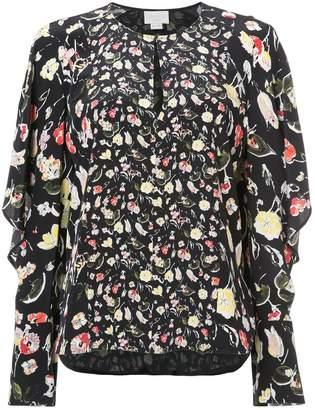 Jason Wu floral long-sleeve top
