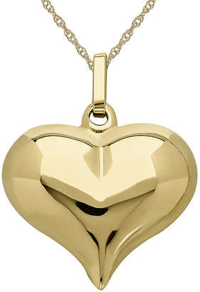 JCPenney FINE JEWELRY Infinite Gold 14K Yellow Gold Puff Heart Pendant Necklace