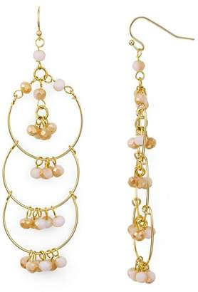 Aqua Multi-Loop Beaded Chandelier Earrings - 100% Exclusive