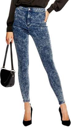 Topshop Joni Acid Wash High Waist Skinny Jeans