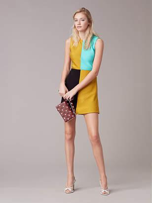 Diane von Furstenberg Mini Shift Slit Dress