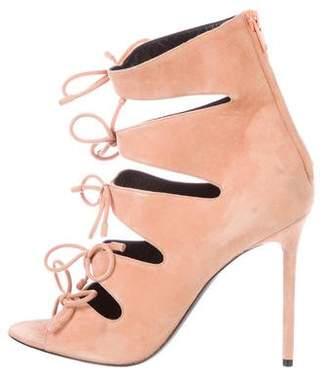 Balenciaga Suede Cage Sandals