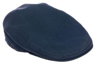 Hermes Leather-Trimmed Newsboy Cap