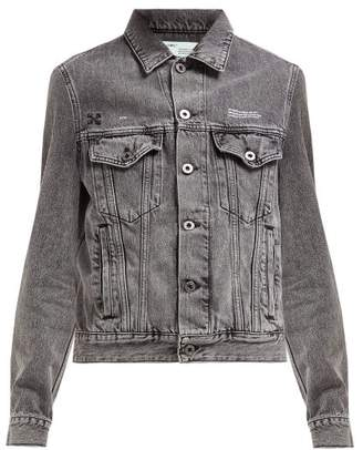 Off-White Off White Embossed Denim Jacket - Womens - Grey