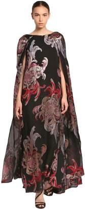 Ingie Paris MOUSSELINE LAME LONG CAPE DRESS