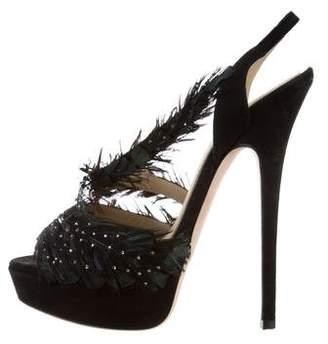 Jimmy Choo Marlene Feather Sandals