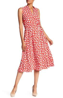 Anne Klein Floral Sleeveless Midi Dress