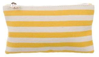 Charlotte Olympia Striped Canvas Coin Purse