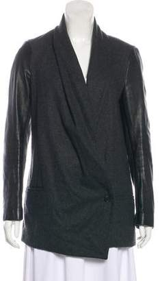 AllSaints Asymmetrical Wool Jacket