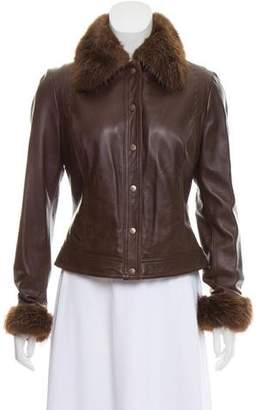 Gianfranco Ferre Fur-Lined Button-Up Jacket