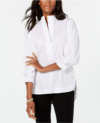 Tommy Hilfiger Tie-Cuff Pullover Shirt, Created for Macy's
