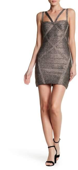 bebe Bandage Strappy Dress