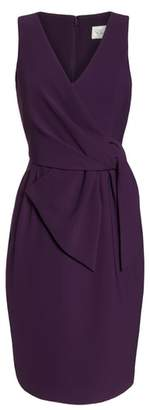 Eliza J Faux Wrap Sheath Dress