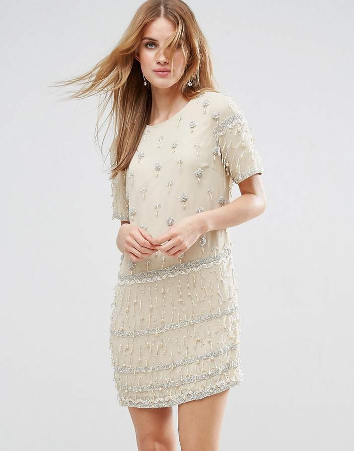 Asos ASOS Embellished Tassle Fringe Shift Dress