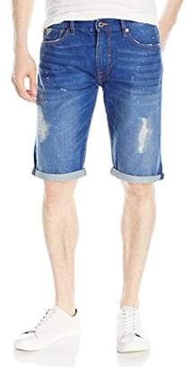 GUESS Men's Regular Denim Short in Opulent Blue Wash