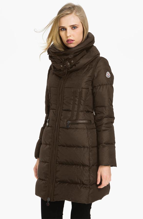 Moncler 'Chou' Zip Pocket Down Coat