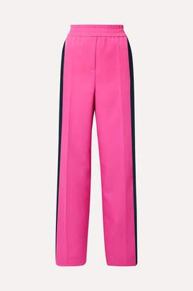 Calvin Klein Striped Wool-gabardine Track Pants - Bright pink