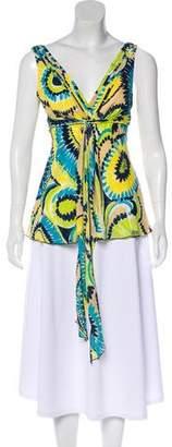 Trina Turk Silk Floral Top