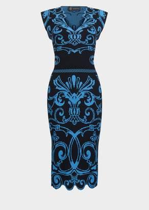 Versace Iconic Viscose Jacquard Dress