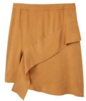 Violeta BY MANGO Midi ruffled skirt
