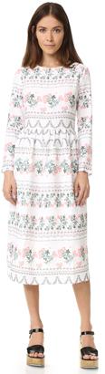 endless rose Long Sleeve Print Dress $117 thestylecure.com