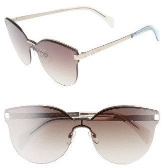 Women's Tommy Hilfiger 99Mm Rimless Cat Eye Sunglasses - Gold $150 thestylecure.com