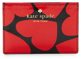 Kate Spade New York Heart Accented Faux Leather Card Holder $50 thestylecure.com