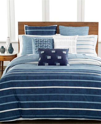 Hotel Collection Colonnade Blue Twin Duvet Cover Bedding