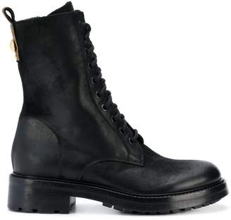 Strategia mid-calf length utility boots