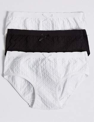 Marks and Spencer Seamfree Jacquard Spotted Bikini Knickers (6-16 Years)