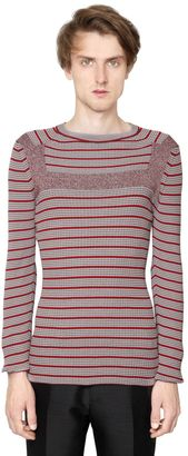Striped Cotton Blend Ribbed Sweater $1,090 thestylecure.com
