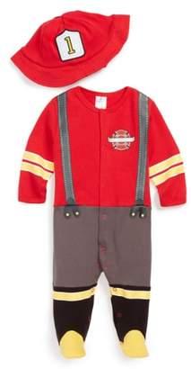 Baby Aspen 'Big Dreamzzz - Firefighter' Footie & Hat