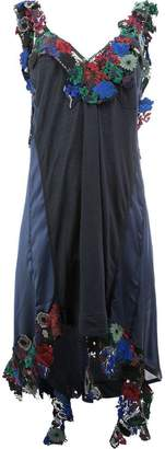 Sacai floral embellished asymmetric dress