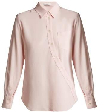 Altuzarra Garcia Ruched Sleeve Crepe Blouse - Womens - Pink