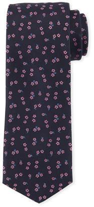 BOSS Floral-Pattern Silk Tie