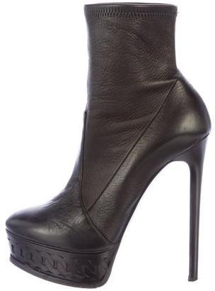 Casadei Leather Platform Ankle Boots $195 thestylecure.com