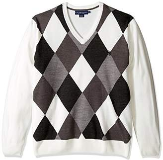 U.S. Polo Assn. Men's Soft Acrylic Argyle V-Neck Sweater