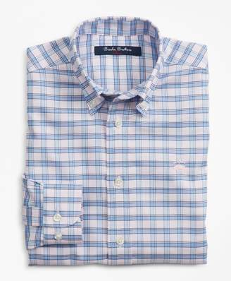 Brooks Brothers Boys Non-Iron Oxford Alternating Check Sport Shirt