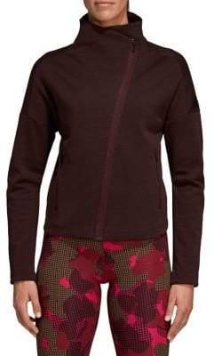 adidas Mock Neck Asymmetric Zip Jacket