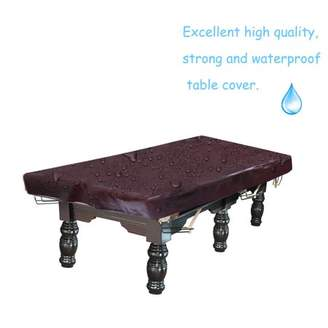 Pool' LESHP 8 Feet Billiard Table Cover Dustproof Table Cloth Emulsion Leather Cotton Backing Desk Cover Waterproof Pool Desk Cloth, Burgundy